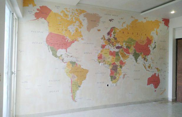 Multicolour Map