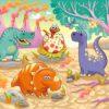 Cute Dino Family