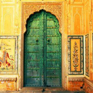 Green Village Door