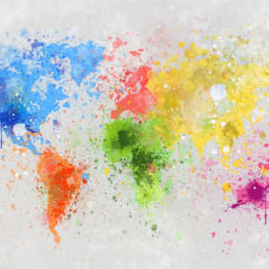 Map in Splashes of Colour