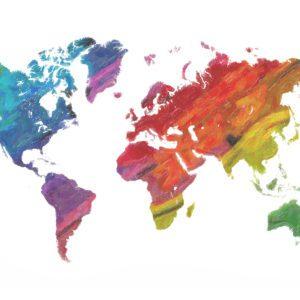 Multicolour World Map