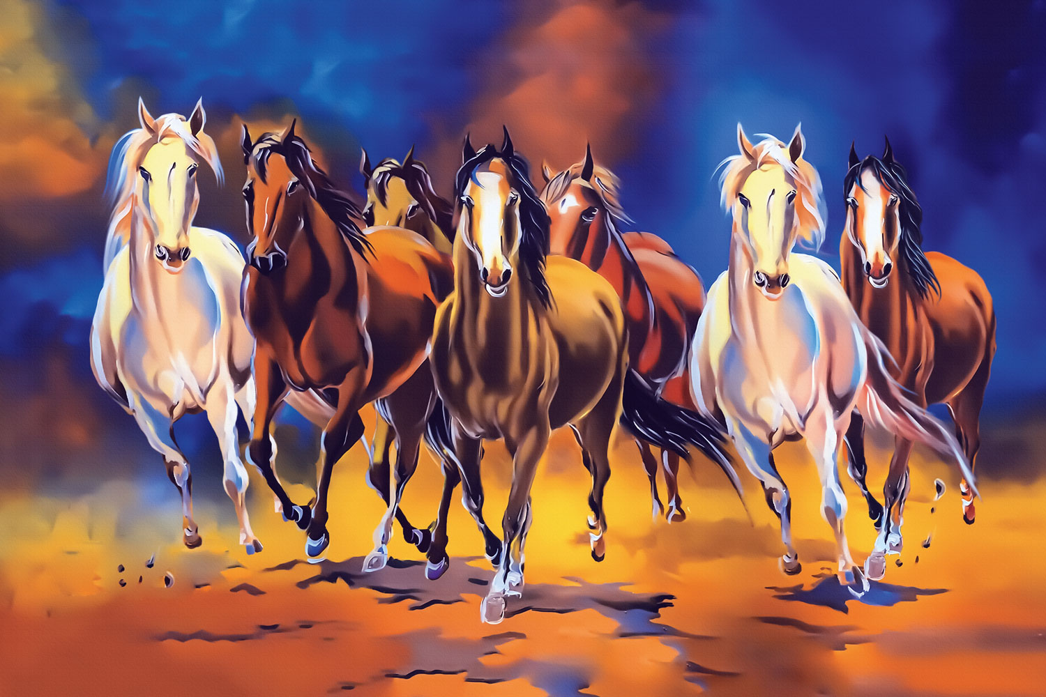 Seven Horse Print A Wallpaper More