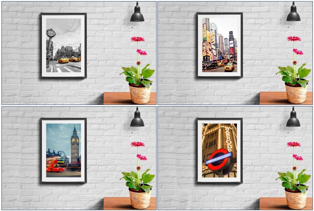 Capture the essence of iconic cities across the globe with City Wall Art